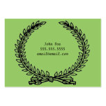 Olive Wreath Calling Card Business Card