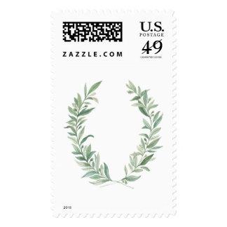 Olive Wreath Stamp - Vertical