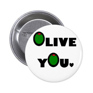 Olive you pinback buttons