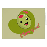 Olive you Card card
