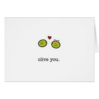 Olive You Card