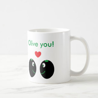"""Olive you!"" I Love You Valentine's Day Mug"