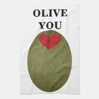Olive You Kitchen Towel