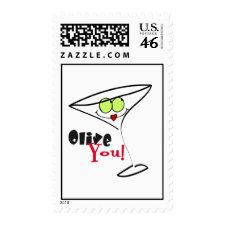 Olive You Martini stamp
