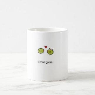 Olive You Classic White Coffee Mug