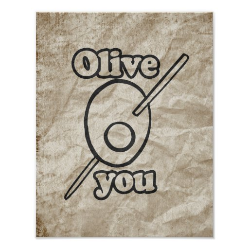 OLIVE YOU POSTER