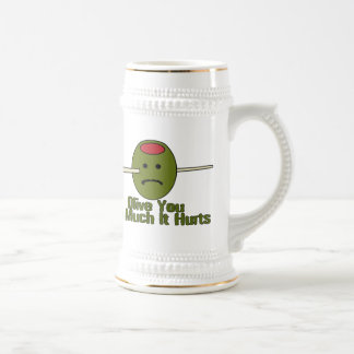 Olive You So Much It Hurts Beer Stein