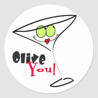 Olive You Valentines Day Stickers