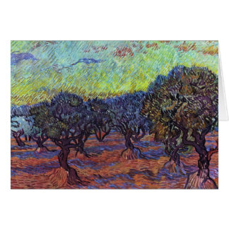 Olivenhain By Vincent Van Gogh Greeting Card