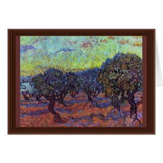 Olivenhain By Vincent Van Gogh Card