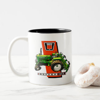 Oliver 1850 tractor Two-Tone coffee mug