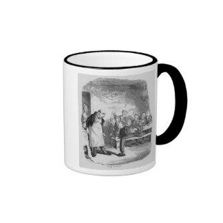 Oliver asking for more ringer coffee mug