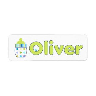 Oliver Baby Bottle labels