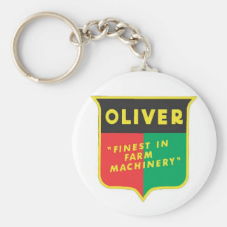 Oliver Basic Round Button Keychain
