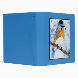 Oliver Bluebird with mustache, bowler binder