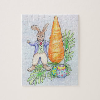 Oliver Bunny With Carrot Puzzle
