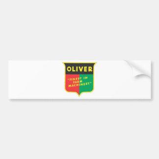 Oliver Car Bumper Sticker