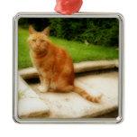 Oliver Cat Metal Ornament