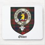 Oliver Clan Crest Badge Tartan Mouse Mat