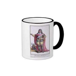 Oliver Cromwell (1599-1658) 1780 (coloured engravi Ringer Coffee Mug