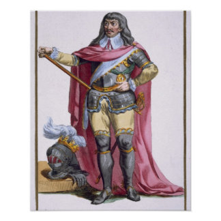 Oliver Cromwell (1599-1658) 1780 (coloured engravi Poster