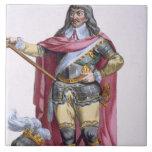 Oliver Cromwell (1599-1658) 1780 (engravi coloread Teja Cerámica