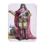 Oliver Cromwell (1599-1658) 1780 (engravi coloread Imanes Rectangulares