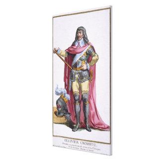 Oliver Cromwell (1599-1658) 1780 (engravi coloread Impresiones En Lienzo Estiradas