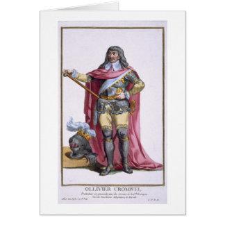 Oliver Cromwell (1599-1658) 1780 (engravi coloread Tarjeta De Felicitación