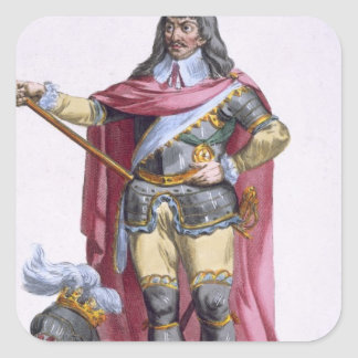 Oliver Cromwell (1599-1658) 1780 (engravi Pegatina Cuadrada