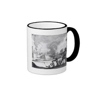 Oliver Cromwell Besieges the Drogheda in 1649-50 Ringer Coffee Mug
