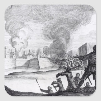 Oliver Cromwell Besieges the Drogheda in 1649-50 Square Sticker