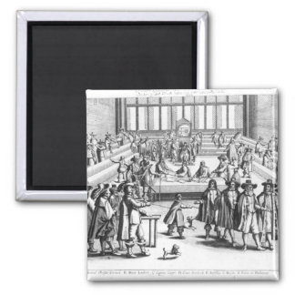 Oliver Cromwell  Dissolving The Parliament 2 Inch Square Magnet