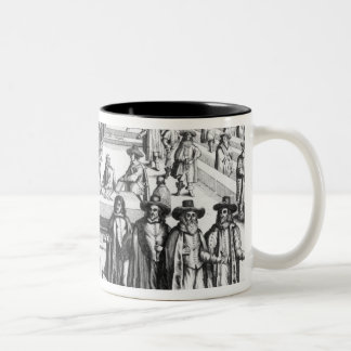 Oliver Cromwell  Dissolving The Parliament Two-Tone Coffee Mug