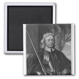 Oliver Cromwell  illustration 2 Inch Square Magnet