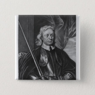 Oliver Cromwell  illustration Button