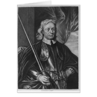 Oliver Cromwell  illustration Card