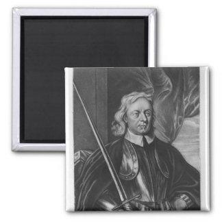 Oliver Cromwell  illustration Magnet