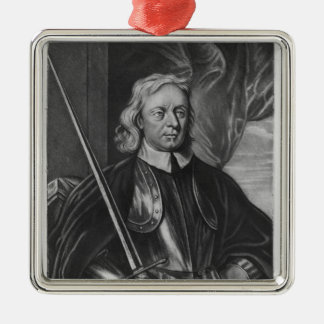 Oliver Cromwell  illustration Metal Ornament