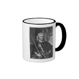 Oliver Cromwell  illustration Ringer Coffee Mug