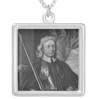 Oliver Cromwell  illustration Square Pendant Necklace
