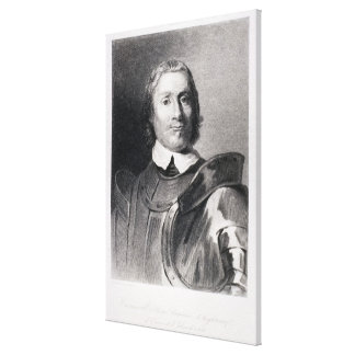Oliver Cromwell , Lord Protector of England Stretched Canvas Print