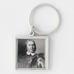 Oliver Cromwell Round Keychain