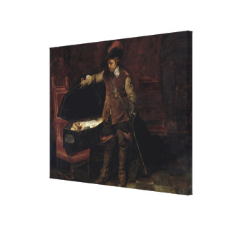 Oliver Cromwell  Opening the Coffin of Charles Gallery Wrapped Canvas
