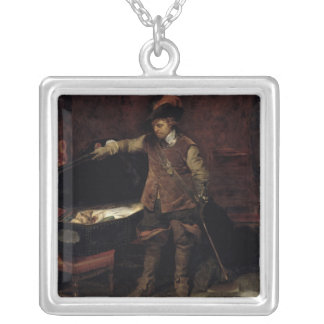 Oliver Cromwell  Opening the Coffin of Charles Custom Necklace