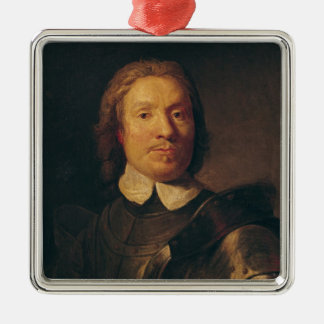 Oliver Cromwell Square Metal Christmas Ornament