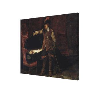 Oliver Cromwell que abre el ataúd de Charles Impresión En Lienzo