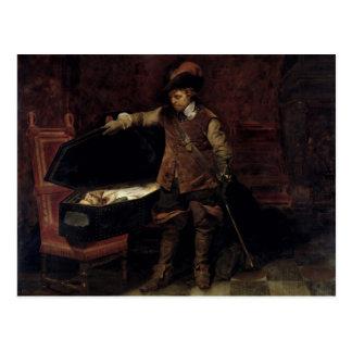 Oliver Cromwell que abre el ataúd de Charles Postales