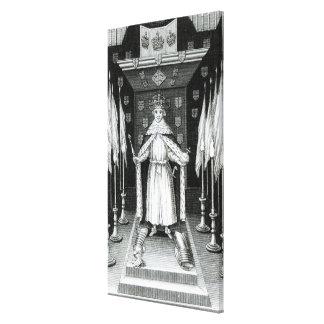 Oliver Cromwell que se coloca en estado; Impresión En Lienzo