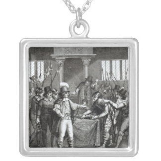 Oliver Cromwell Silver Plated Necklace
